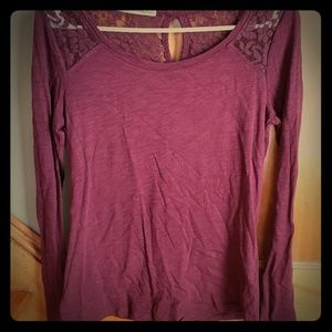 Burgundy lot of sweaters